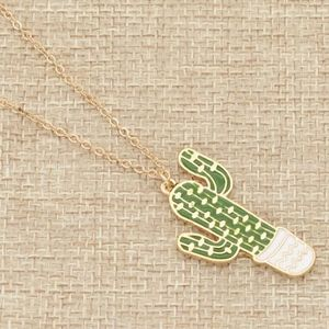 Cactus Necklace - Gold-Tonned